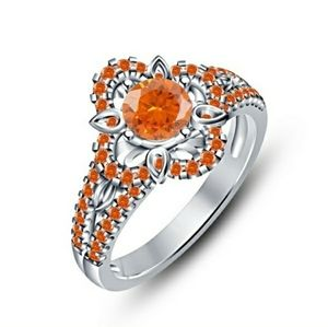 Stunning Natural Orange Sapphire Ring 💍